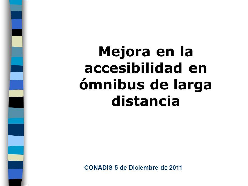 Mejora en la accesibilidad en ómnibus de larga distancia CONADIS 5 de Diciembre de 2011
