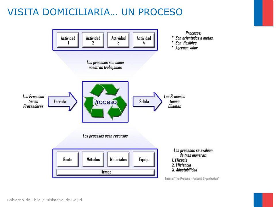 Gobierno de Chile / Ministerio de Salud VISITA DOMICILIARIA… UN PROCESO
