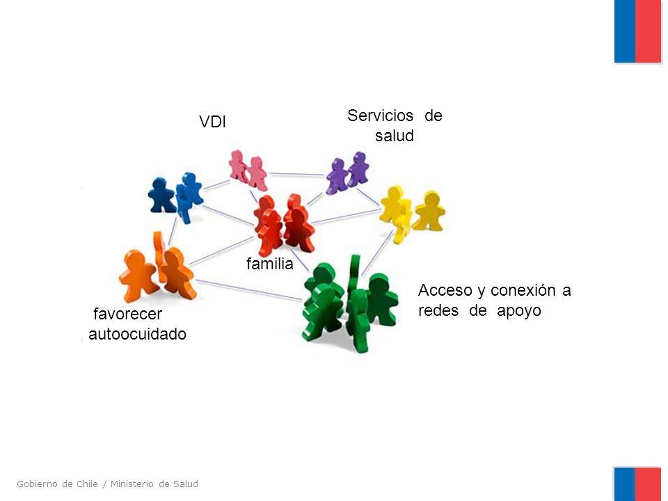 Gobierno de Chile / Ministerio de Salud familia VDI Acceso y conexión a redes de apoyo Servicios de salud favorecer autoocuidado