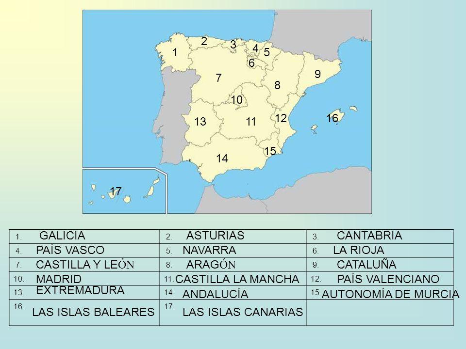 1. 2. 3. 4. 5. 6. 7. 8. 9. 10.11.12. 13.14.15. 16.17. 1 2 3 4 5 6 7 8 9 10 11 12 13 14 15 16 17 GALICIAASTURIASCANTABRIA PAÍS VASCONAVARRALA RIOJA CAS