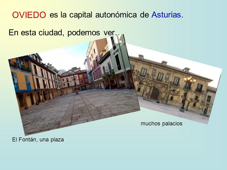 OVIEDO es la capital autonómica deAsturias. En esta ciudad, podemos ver… El Fontán, una plaza muchos palacios