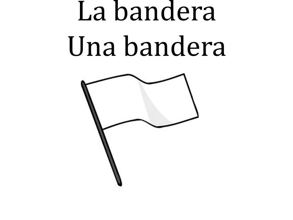 La bandera Una bandera