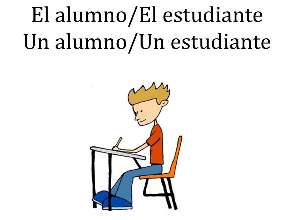 El alumno/El estudiante Un alumno/Un estudiante