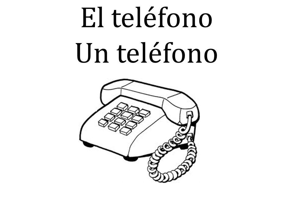 El teléfono Un teléfono