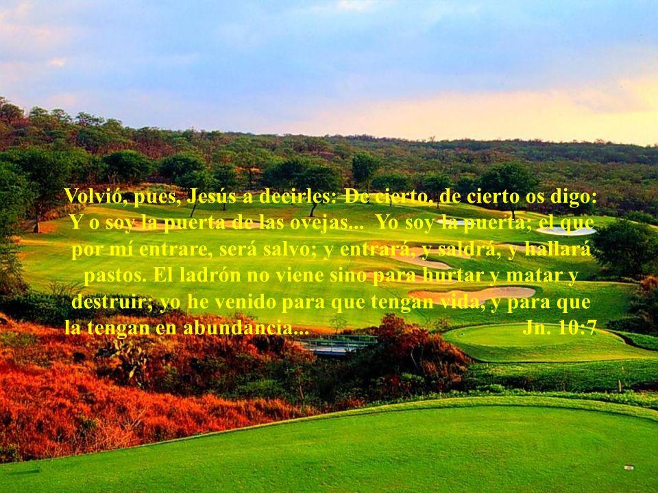 Volvió, pues, Jesús a decirles: De cierto, de cierto os digo: Y o soy la puerta de las ovejas...