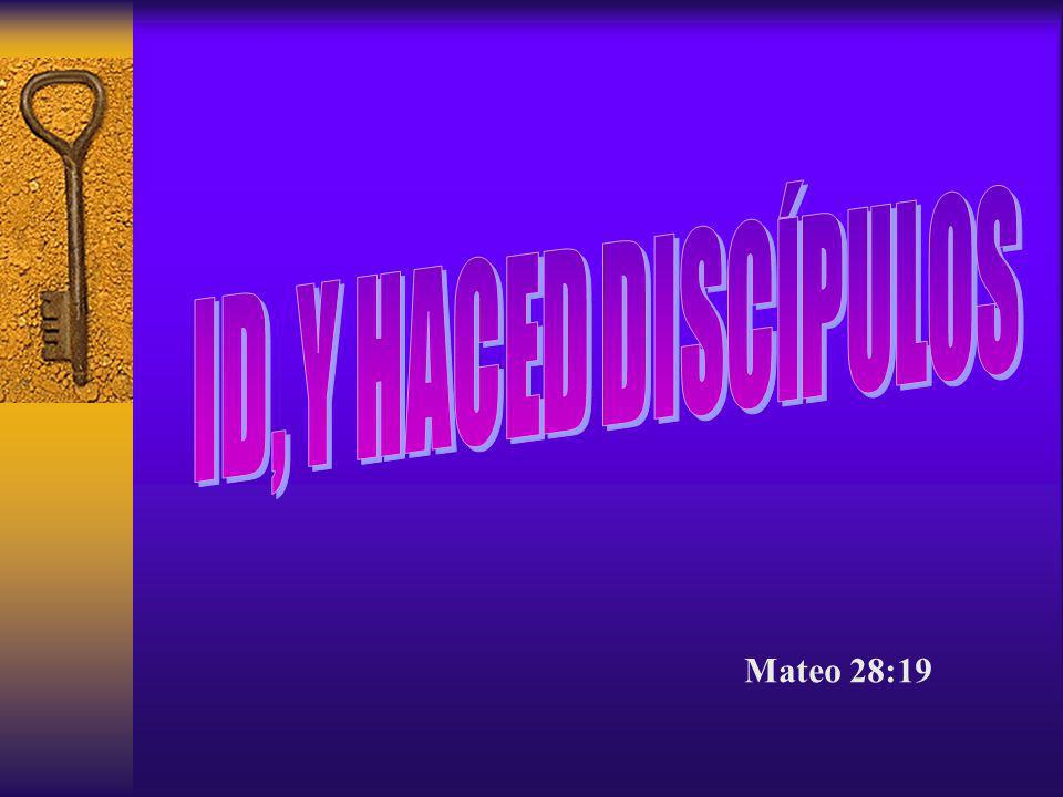 10.Está dispuesto a hacer nuevos discípulos.