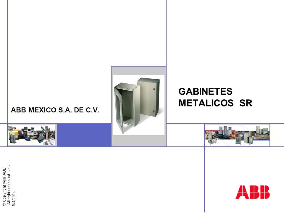 © Copyright year ABB - 2 - GABINETES METALICOS SR AGENDA ¿Qué es la familia SR.