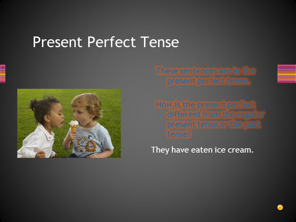Present Perfect Tense indicates: a fact or an act in the past.