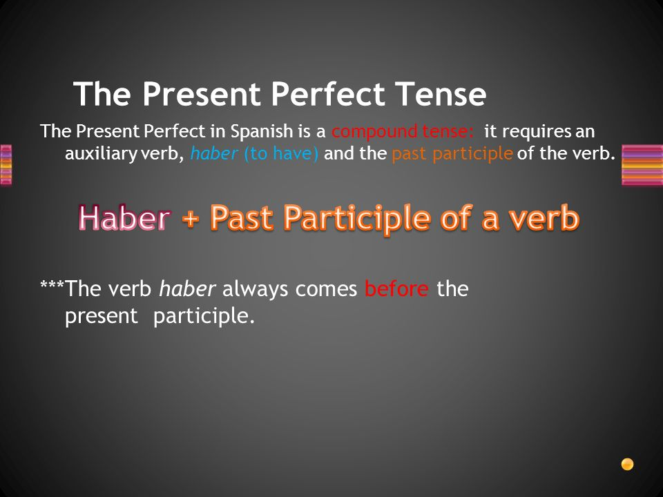 Present Perfect Tense Lets see a few more examples.