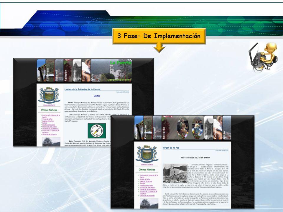 3 Fase: De Implementación