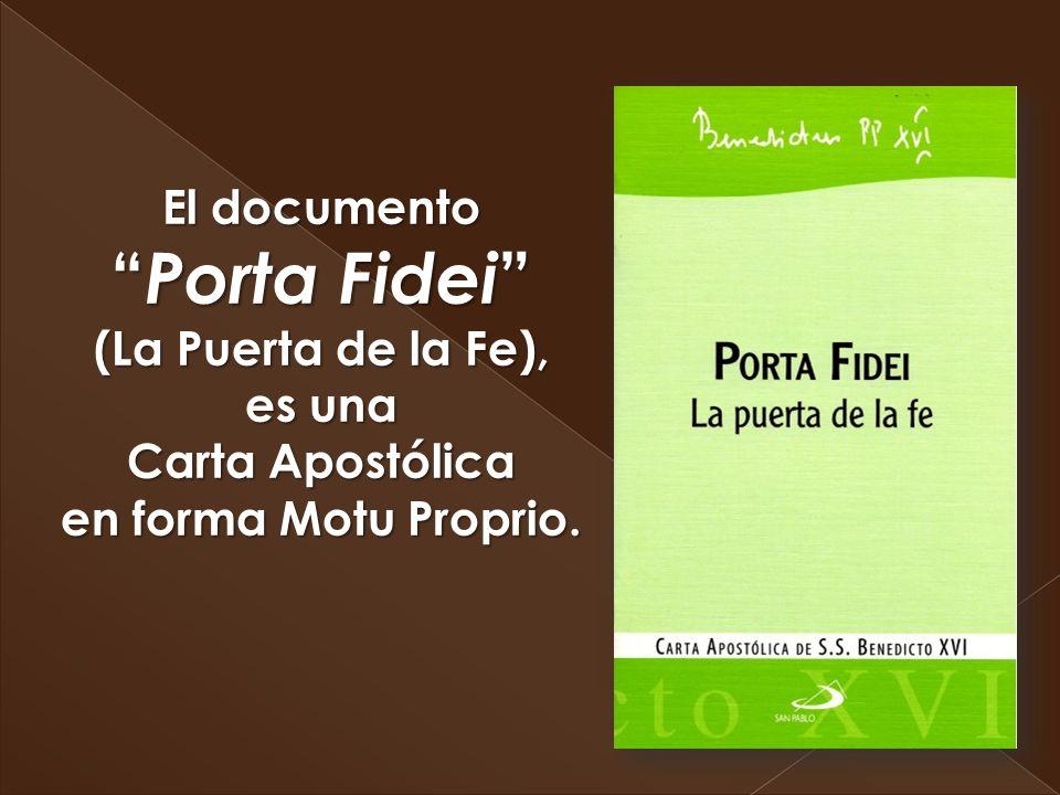 Un Motu Proprio es un documento pontificio que conlleva una decisión o una comunicación pastoral o disciplinar y que procede de la propia voluntad del pontífice que los publica.