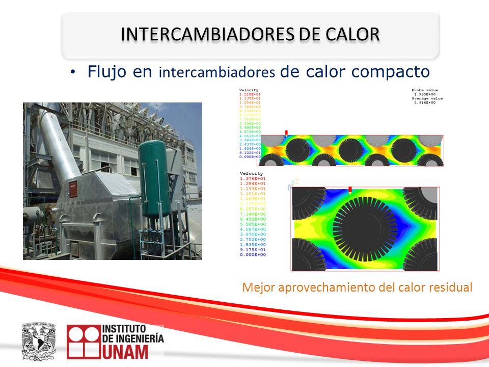 INTERCAMBIADORES DE CALOR Mejor aprovechamiento del calor residual Flujo en intercambiadores de calor compacto