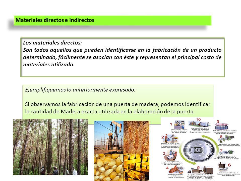Los materiales directos: Son todos aquellos que pueden identificarse en la fabricación de un producto determinado, fácilmente se asocian con éste y re