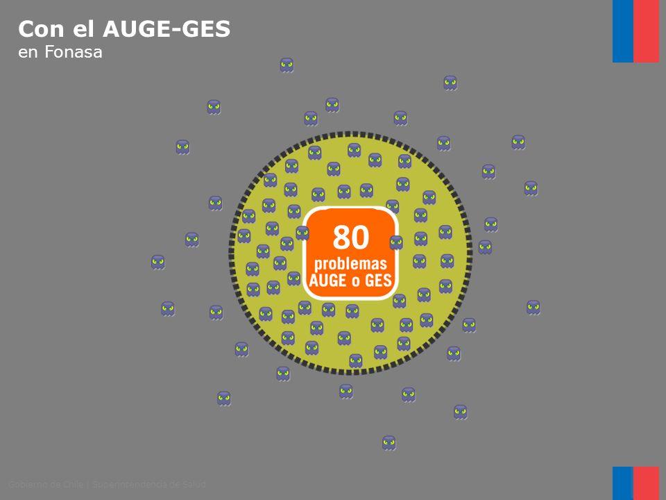 Gobierno de Chile   Superintendencia de Salud 80 Con el AUGE-GES en Fonasa