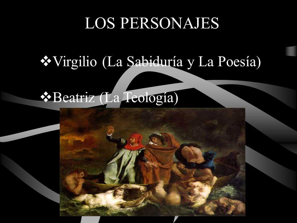 LOS PERSONAJES Virgilio (La Sabiduría y La Poesía) Beatriz (La Teología)