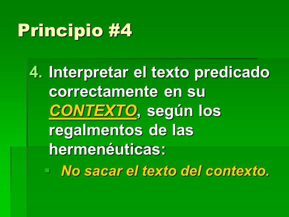 Principio #3 3. Usar divisiones del texto en un orden LÓGICO o cronológico relacionadas con el tema principal.