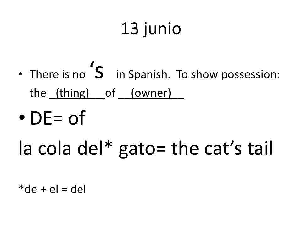 13 junio There is no s in Spanish.