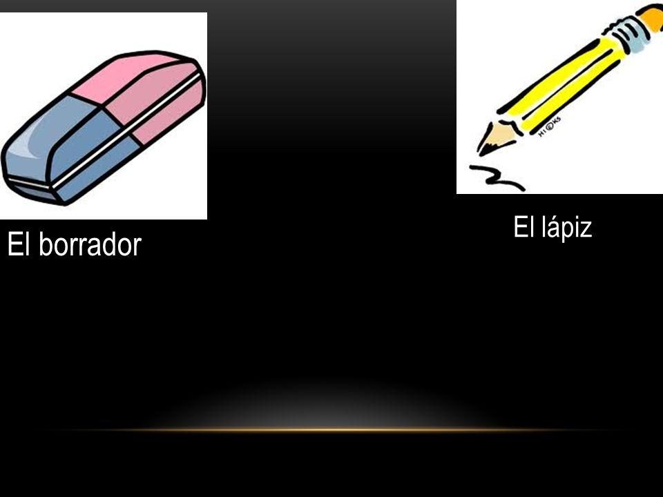 El borrador El lápiz