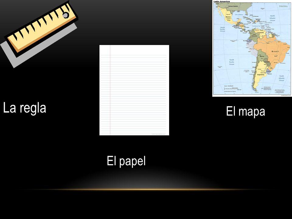 La regla El papel El mapa