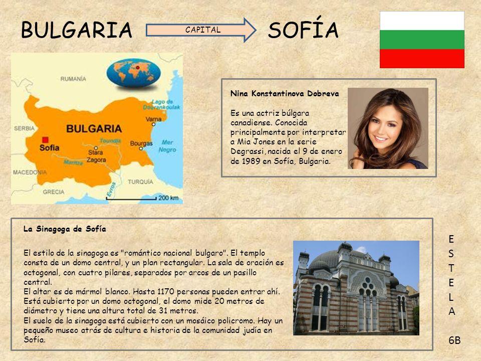 BULGARIA SOFÍA Nina Konstantinova Dobreva Es una actriz búlgara canadiense.
