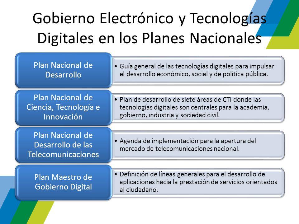 Gobierno Electrónico y Tecnologías Digitales en los Planes Nacionales Guía general de las tecnologías digitales para impulsar el desarrollo económico,