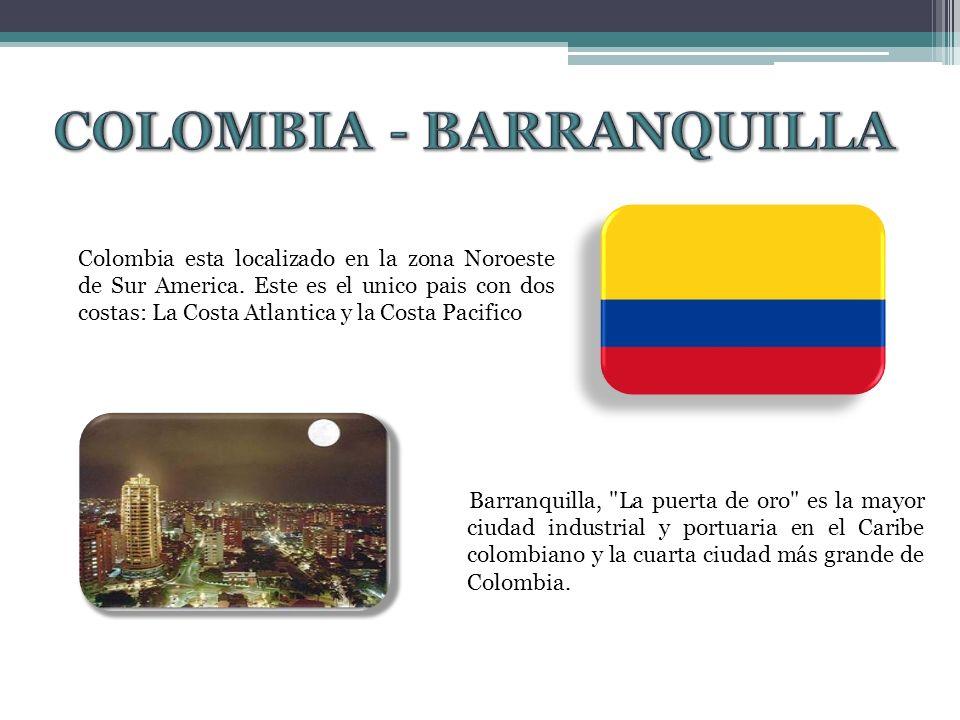 Barranquilla, La puerta de oro es la mayor ciudad industrial y portuaria en el Caribe colombiano y la cuarta ciudad más grande de Colombia.