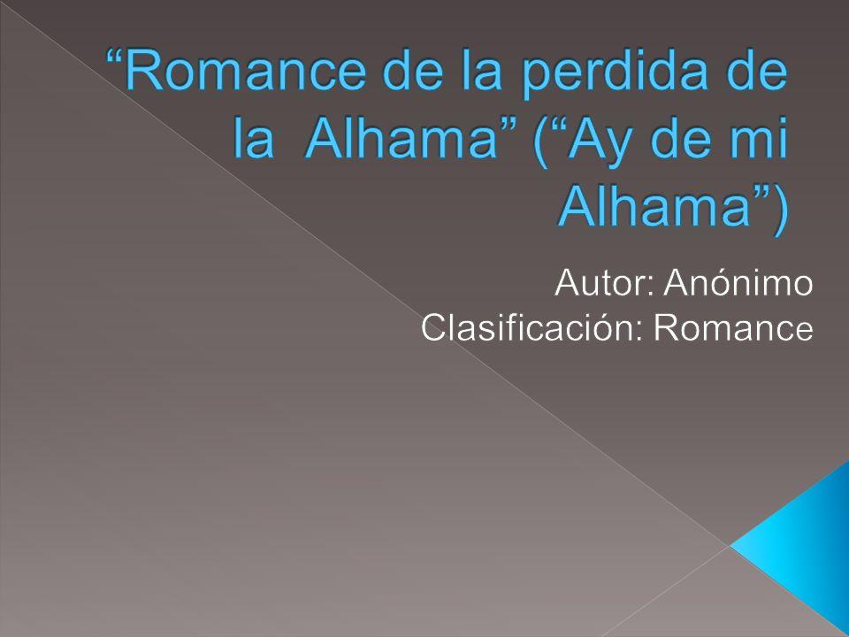 Al suroeste de la gran ciudad de Granada, Alhama fue en el siglo XV una cuidad y fortaleza, vital para los moros.