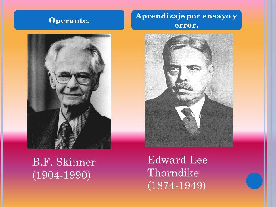 Aprendizaje por ensayo y error. Operante. Edward Lee Thorndike (1874-1949) B.F. Skinner (1904-1990)