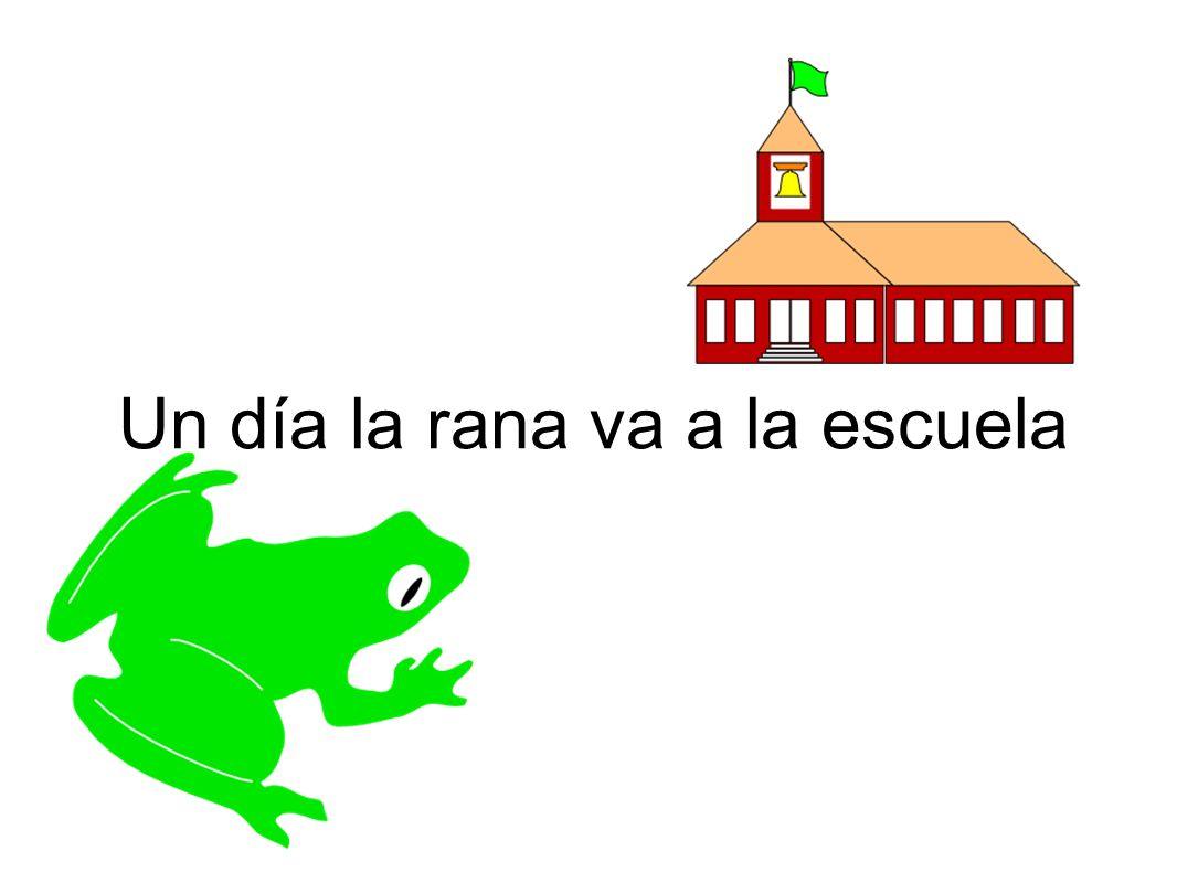 Un día la rana va a la escuela
