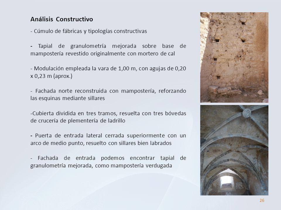 26 Análisis Constructivo - Cúmulo de fábricas y tipologías constructivas - Tapial de granulometría mejorada sobre base de mampostería revestido origin