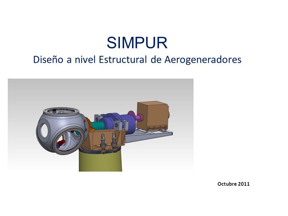 Contenidos 0 - Objetivos 1 – Presentación principales componentes estructurales en un aerogenerador (con caja multiplicadora) 2 – Diseño de la masa portapalas 3 – Diseño de los bastidores 4 – Diseño del eje lento (No mostrado) 5 – Diseño de la torre