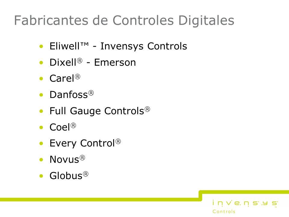 Fabricantes de Controles Digitales Eliwell - Invensys Controls Dixell ® - Emerson Carel ® Danfoss ® Full Gauge Controls ® Coel ® Every Control ® Novus