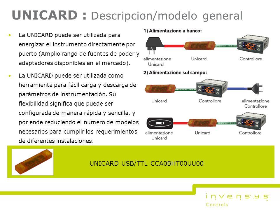 UNICARD : Descripcion/modelo general La UNICARD puede ser utilizada para energizar el instrumento directamente por puerto (Amplio rango de fuentes de