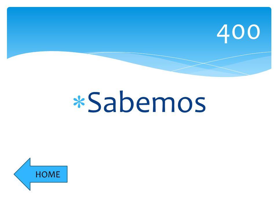 Sabemos 400 HOME