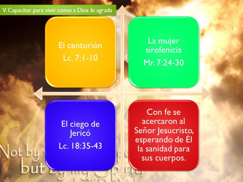 El centurión Lc. 7:1-10 La mujer sirofenicia Mr. 7:24-30 El ciego de Jericó Lc. 18:35-43 Con fe se acercaron al Señor Jesucristo, esperando de Él la s