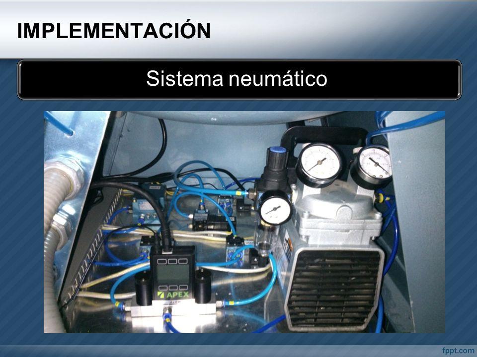 IMPLEMENTACIÓN Sistema neumático