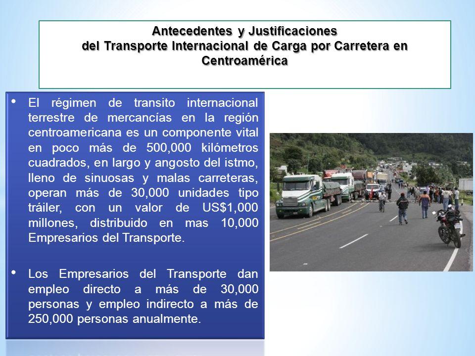 Antecedentes y Justificaciones del Transporte Internacional de Carga por Carretera en Centroamérica