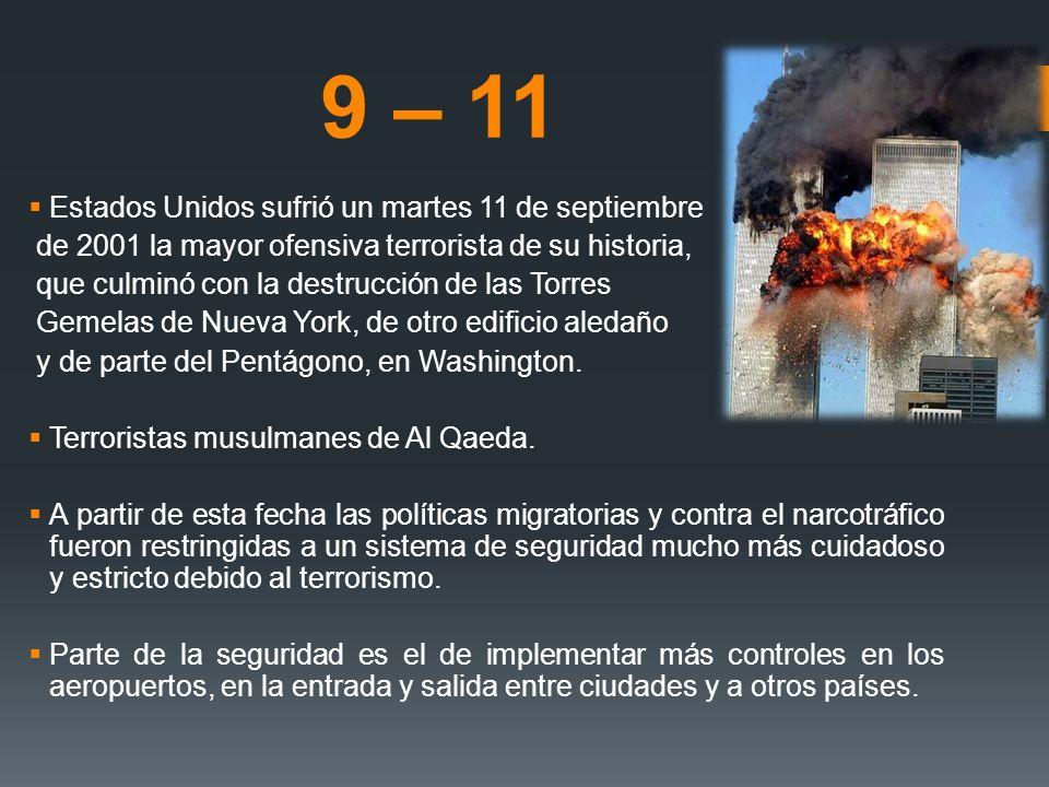 9 – 11 Estados Unidos sufrió un martes 11 de septiembre de 2001 la mayor ofensiva terrorista de su historia, que culminó con la destrucción de las Tor