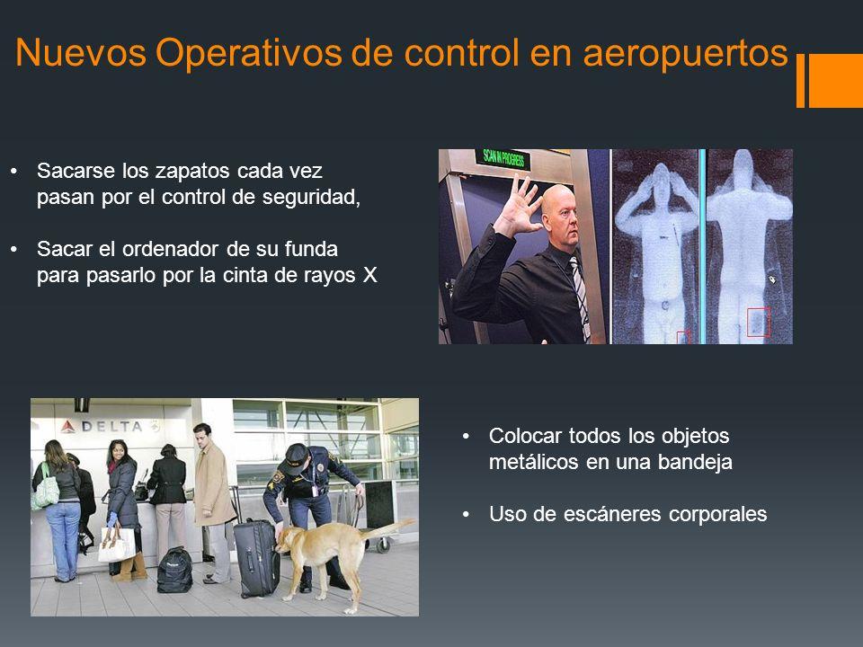 Nuevos Operativos de control en aeropuertos Sacarse los zapatos cada vez pasan por el control de seguridad, Sacar el ordenador de su funda para pasarl