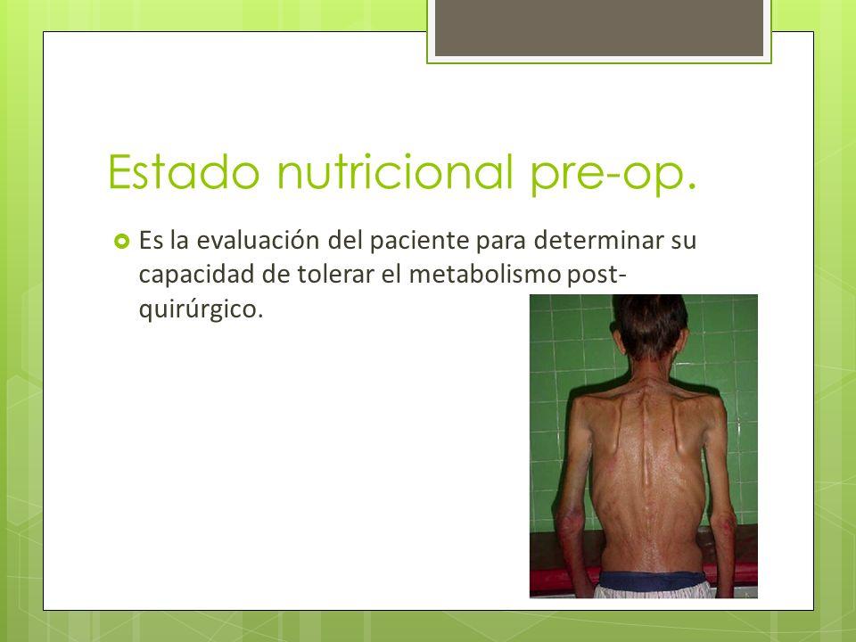 Estado nutricional pre-op.