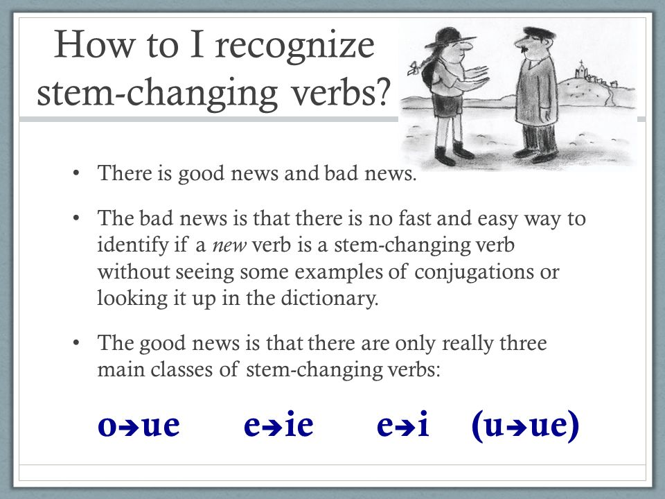 How to I recognize stem- changing verbs.