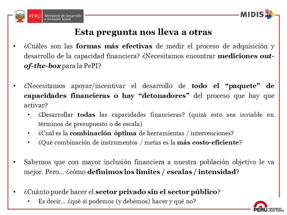 ¿Cuáles son las formas más efectivas de medir el proceso de adquisición y desarrollo de la capacidad financiera? ¿Necesitamos encontrar mediciones out