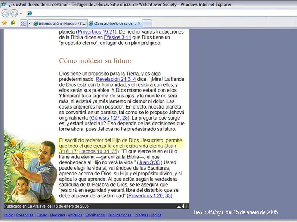 De La Atalaya del 15 de enero de 2005