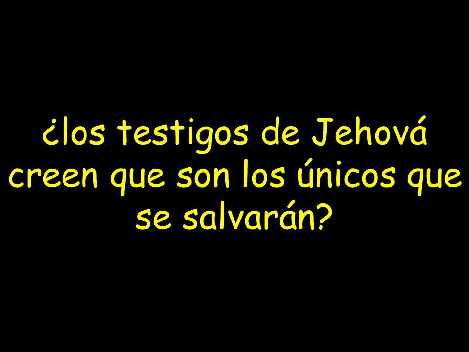 ¿los testigos de Jehová creen que son los únicos que se salvarán?