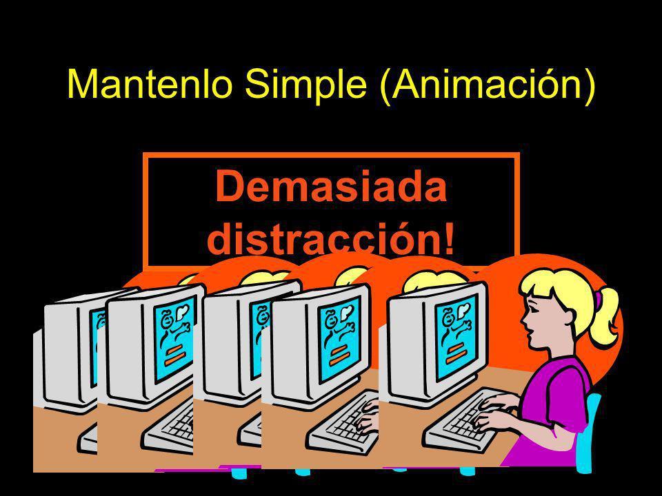 Mantenlo Simple (Animación) Demasiada distracción!