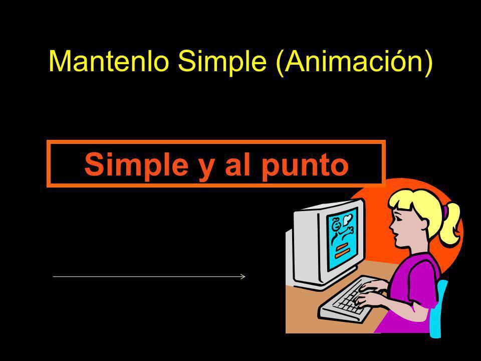 Mantenlo Simple (Animación) Simple y al punto