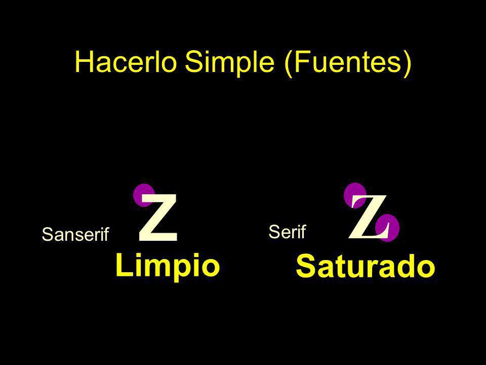 Sanserif Z Serif Z Hacerlo Simple (Fuentes) Saturado Limpio