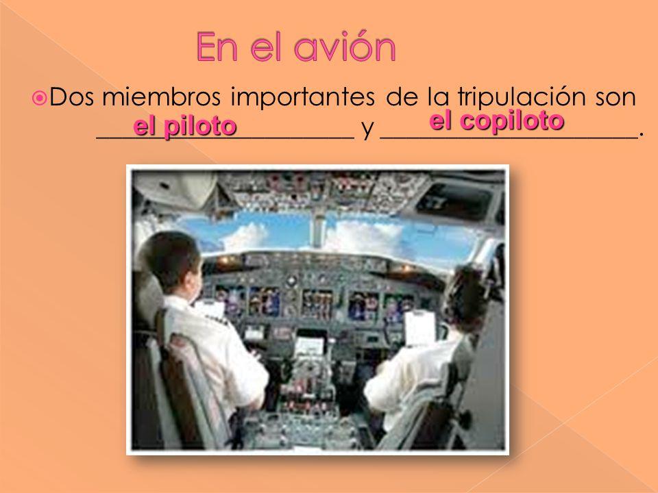 Dos miembros importantes de la tripulación son ____________________ y ____________________. el copiloto el piloto