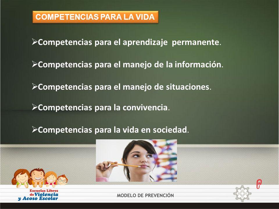 Competencias para el aprendizaje permanente. Competencias para el manejo de la información. Competencias para el manejo de situaciones. COMPETENCIAS P