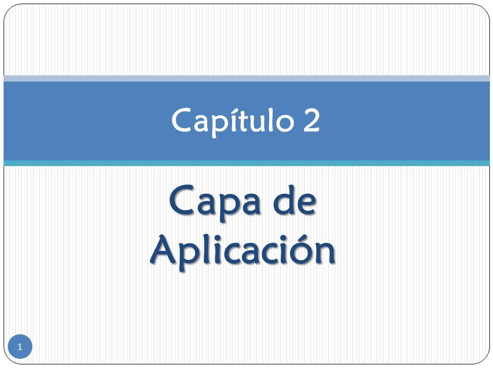 Capa de Aplicación Capítulo 2 1